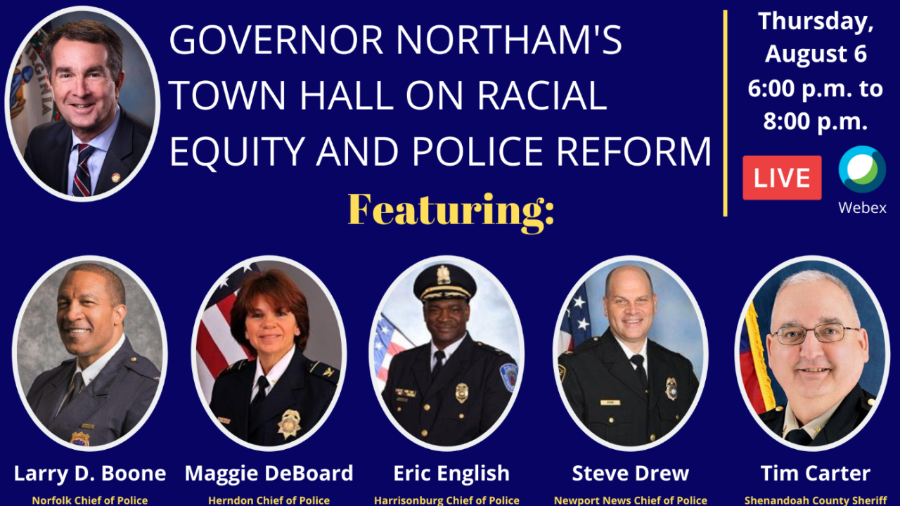 Northam racial equity and policing reform town hall (August 6).PNG
