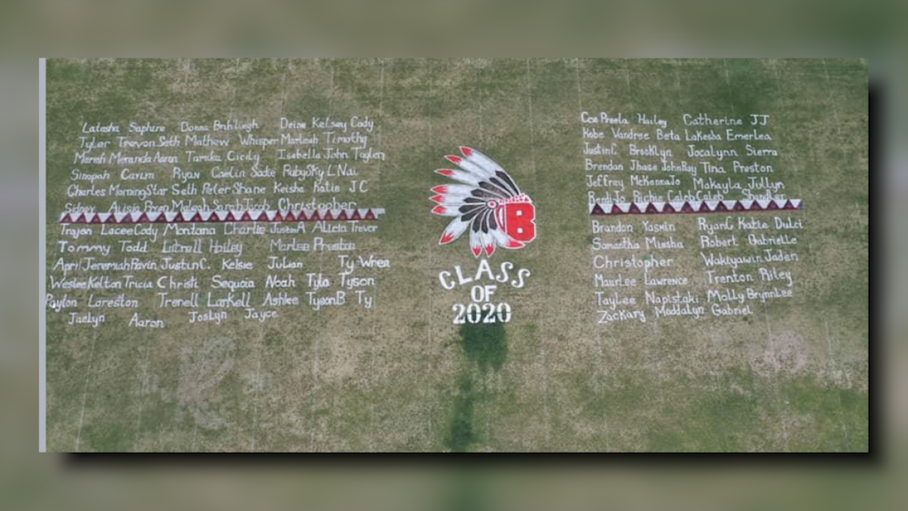 Browning High School honors seniors with field display