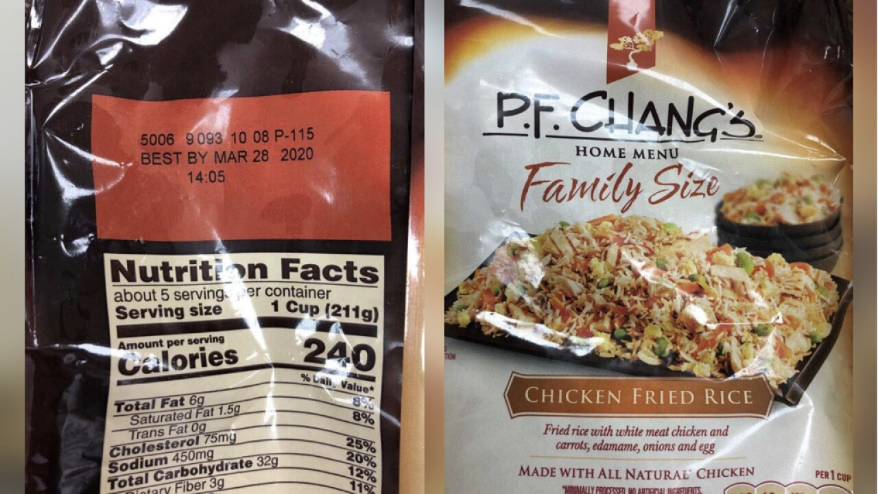 More than 2 million pounds of frozen entrees recalled over allergen risk