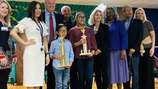 Zian Pascual wins Luther Jones Elementary School Spelling Bee