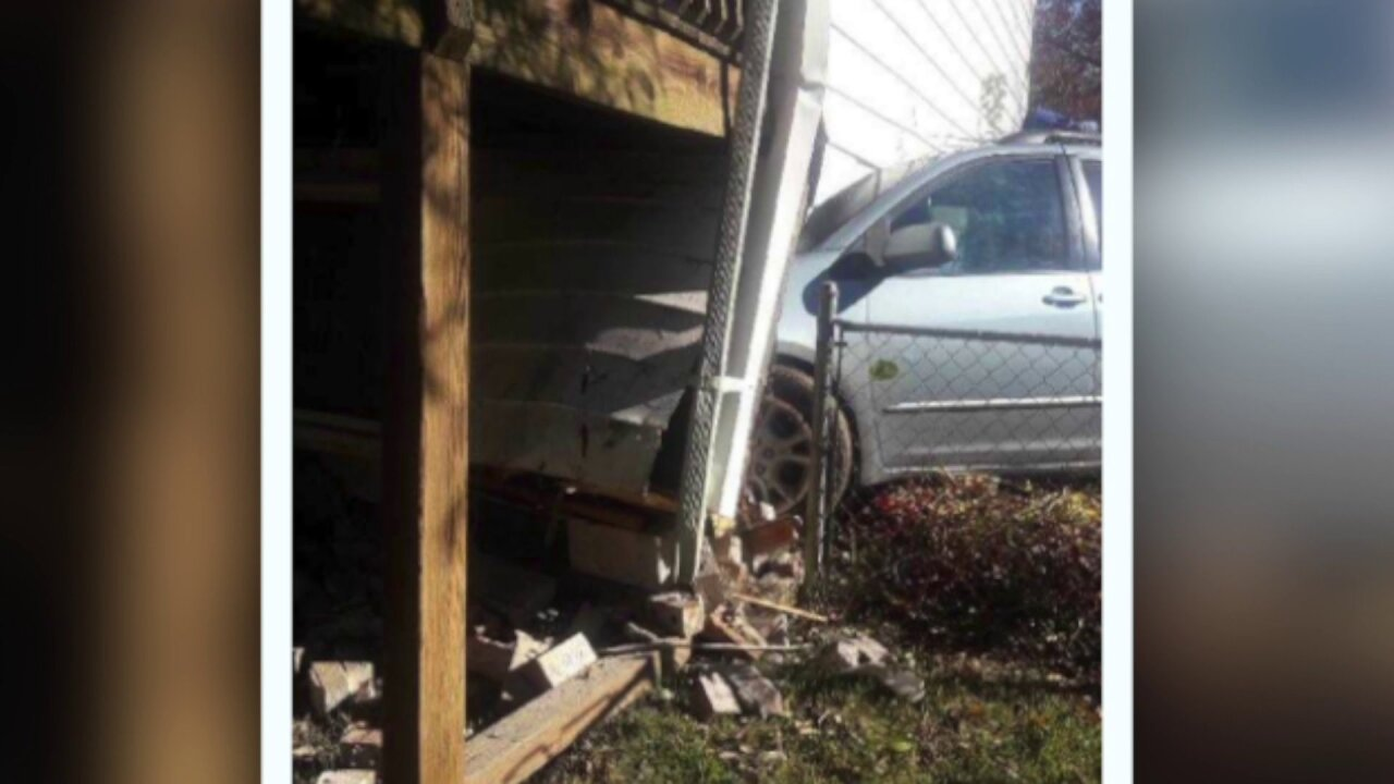 Driver who crashed minivan into Chester man-cave later pepper-sprayed bypolice