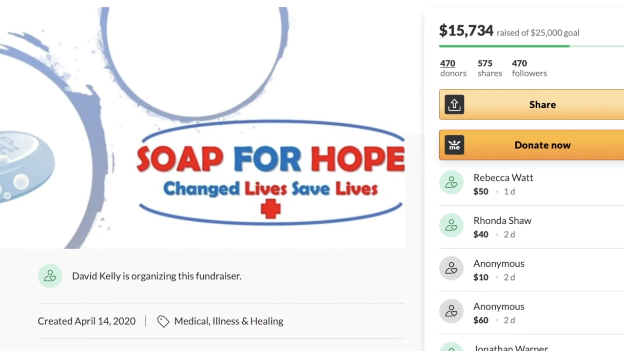 Teacher, students lead 'Soap For Hope' to help those in need