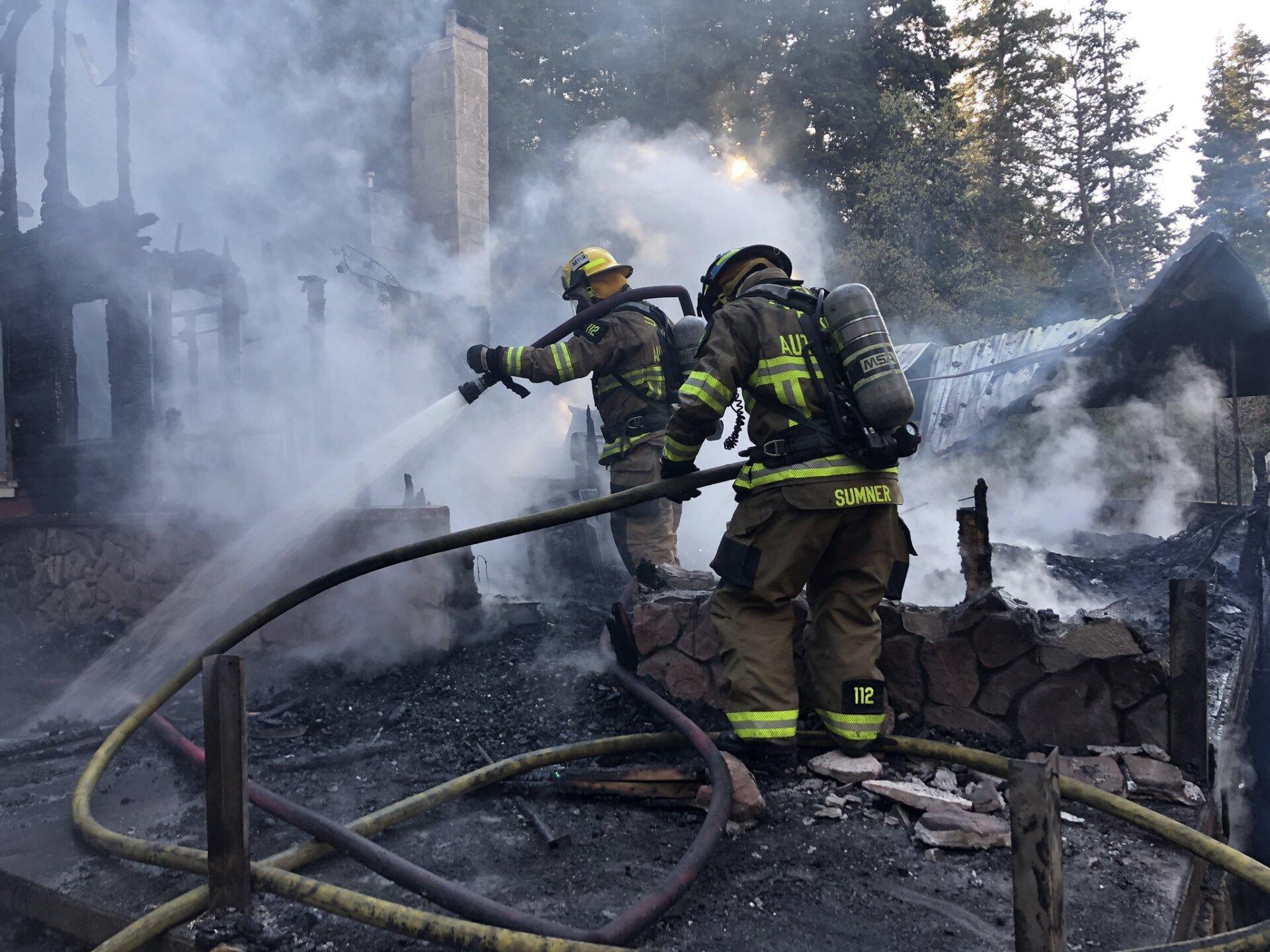 Photos: Fire destroys cabin in Parley'sCanyon