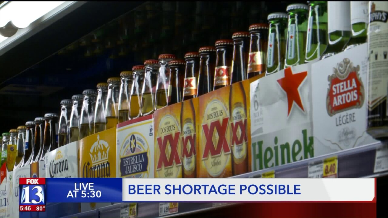Utah may face beer shortage as alcohol content change approaches