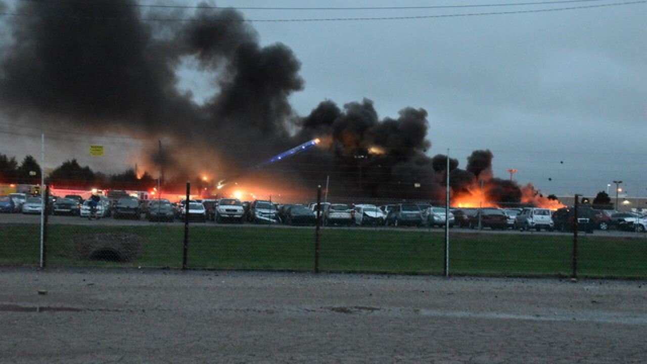 25 vehicles involved in salvage yard fire
