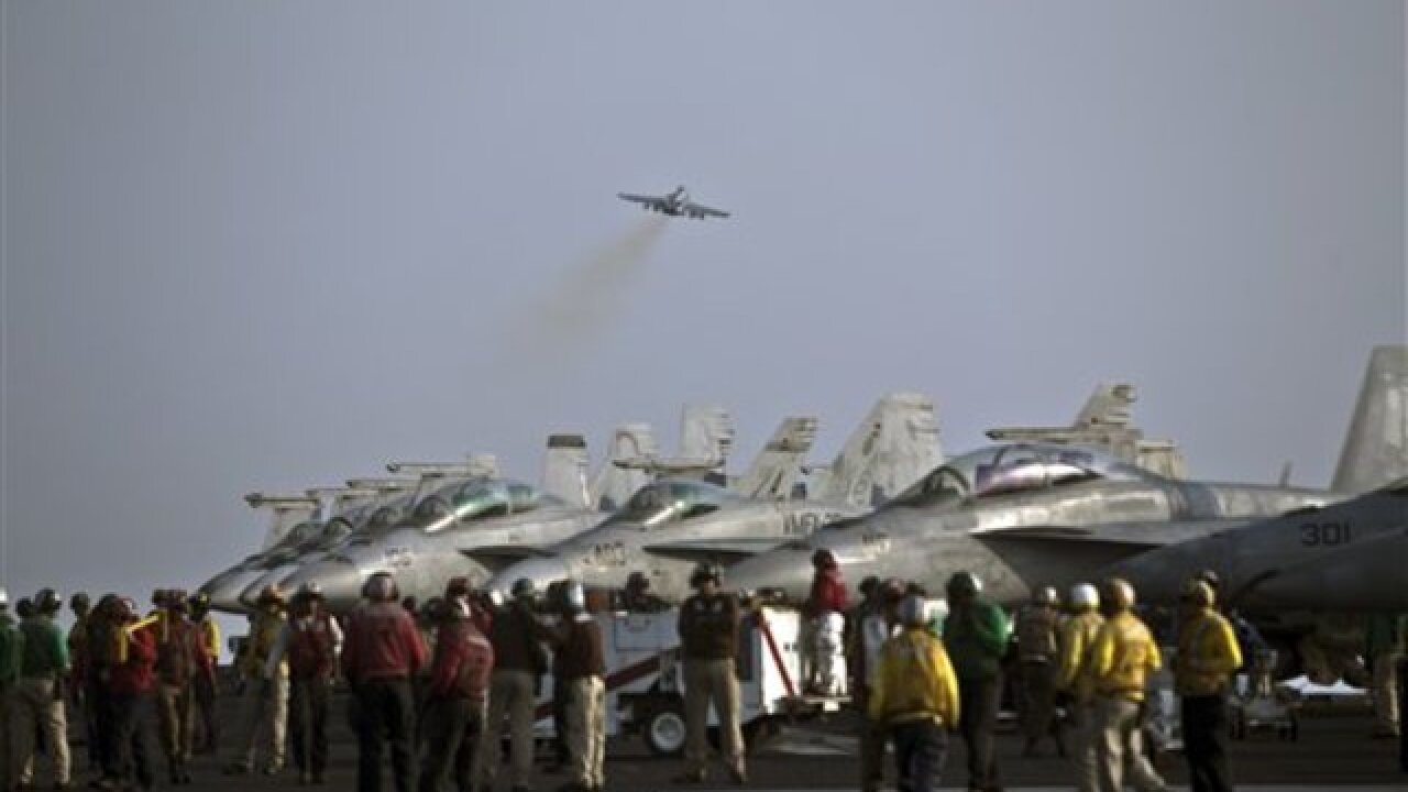 PHOTOS: Life on US aircraft carrier in ISIS war