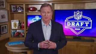 Roger Goodell 2020 NFL Draft Football
