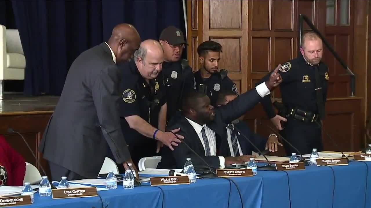 Detroit police board member won't face charges after arrest