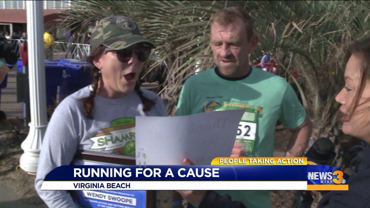 Virginia Beach woman runs to raise awareness about organdonation