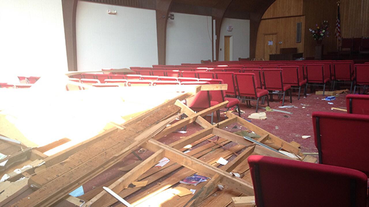 Homes, structures damaged after Okla. tornado