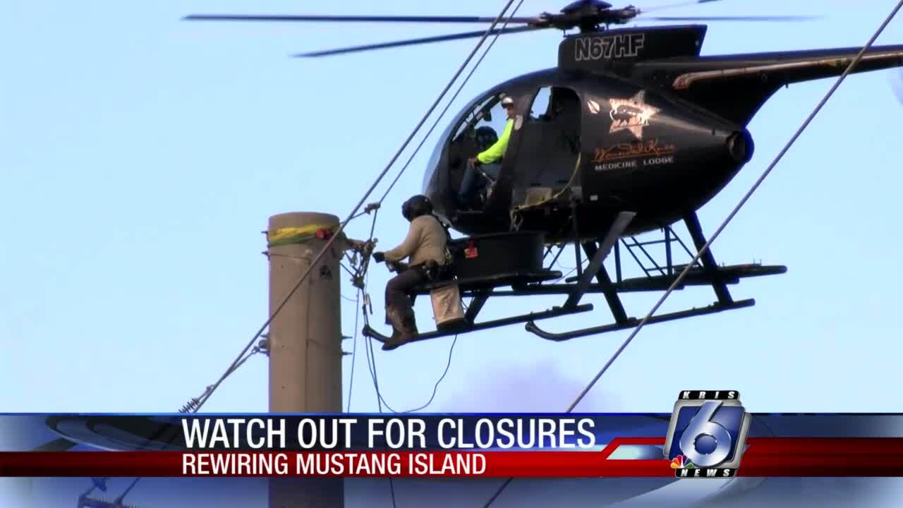 AEP-crews-helicopter-rewire-Mustang-Island