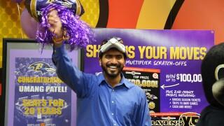 Ravens Seats for 20 Years Ticket Winner Umang Patel.jpg