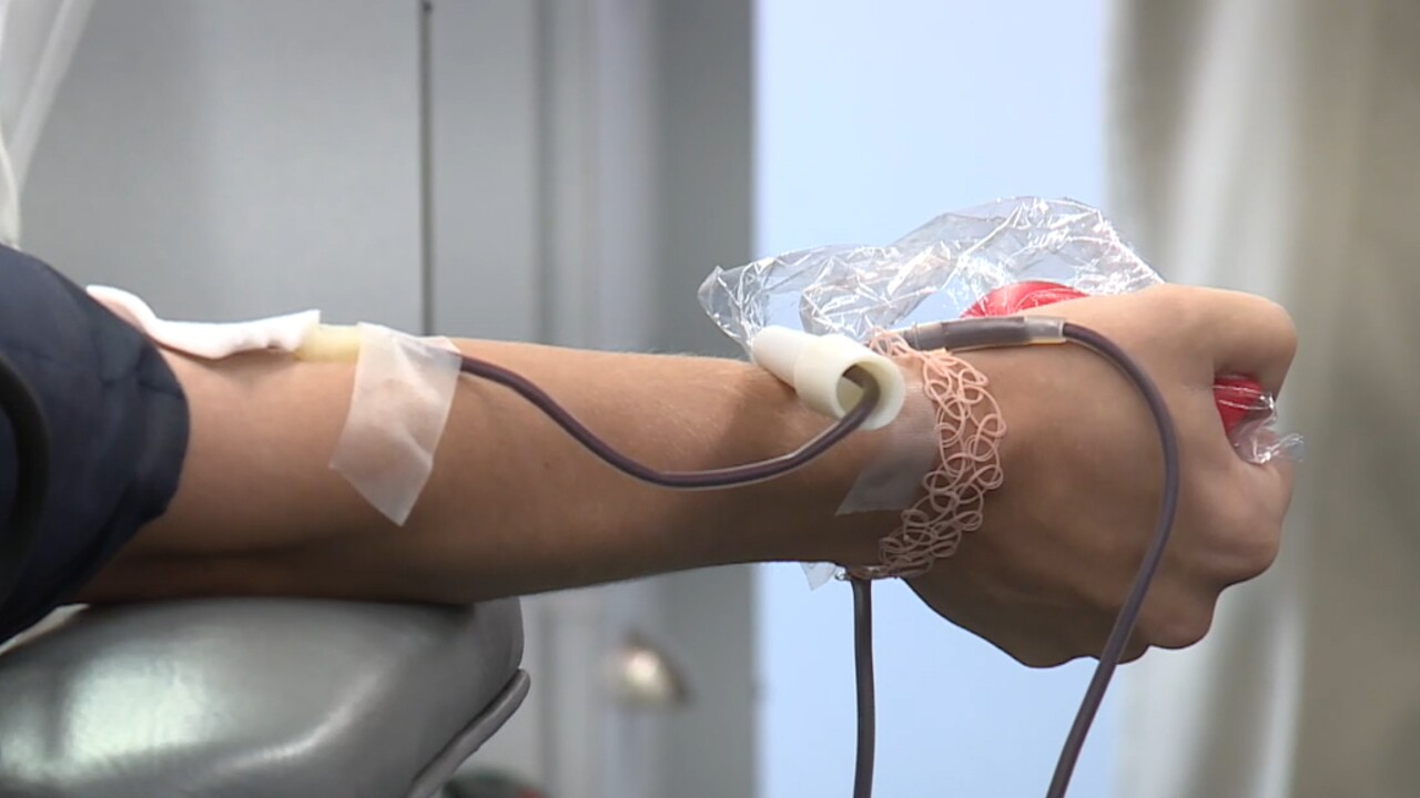 File photo of a patient donating convalescent plasma.jpg