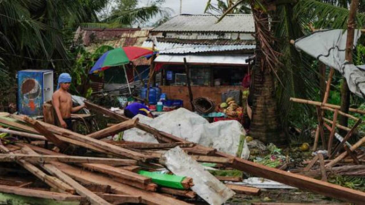 Typhoon Phanfone kills at least 16 as it hits the Philippines on Christmas Day