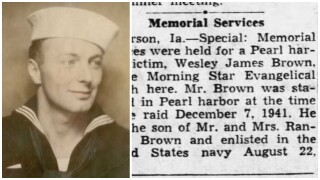Wesley J. Brown of Helena, Montana, killed during World War II, was accounted for on December 22, 2020