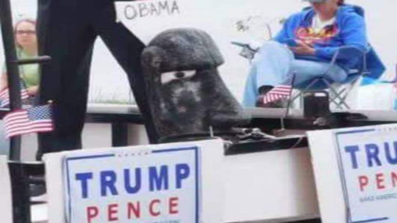 Ind. parade float depicts Trump killing Clinton