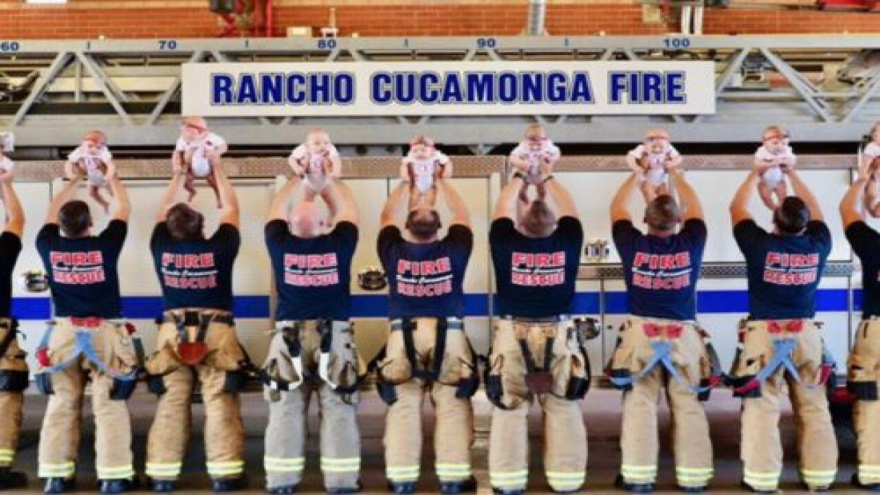 9 Firefighters Had Babies Within 5 Months—and They All Posed In The Sweetest Photo Shoot