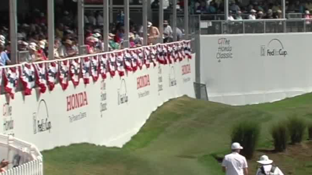 17th green: Where the action is at the Honda Classic
