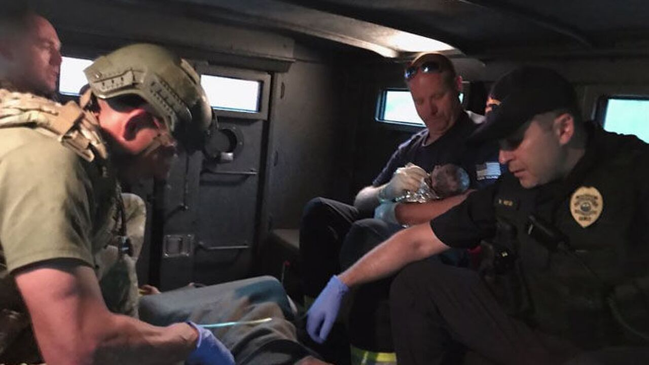 Emergency workers help deliver babies during Irma