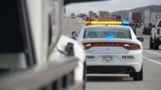 file photo uhp trooper utah highway patrol trooper vehicle on I-15 in Draper car vehicle accident fatal motorcycle crash.JPG