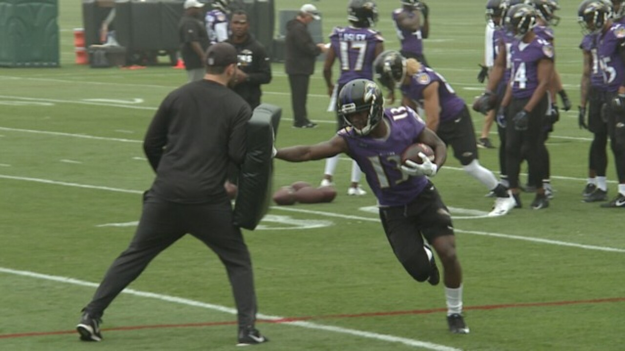 New WRs adjusting to Ravens, Young back on field