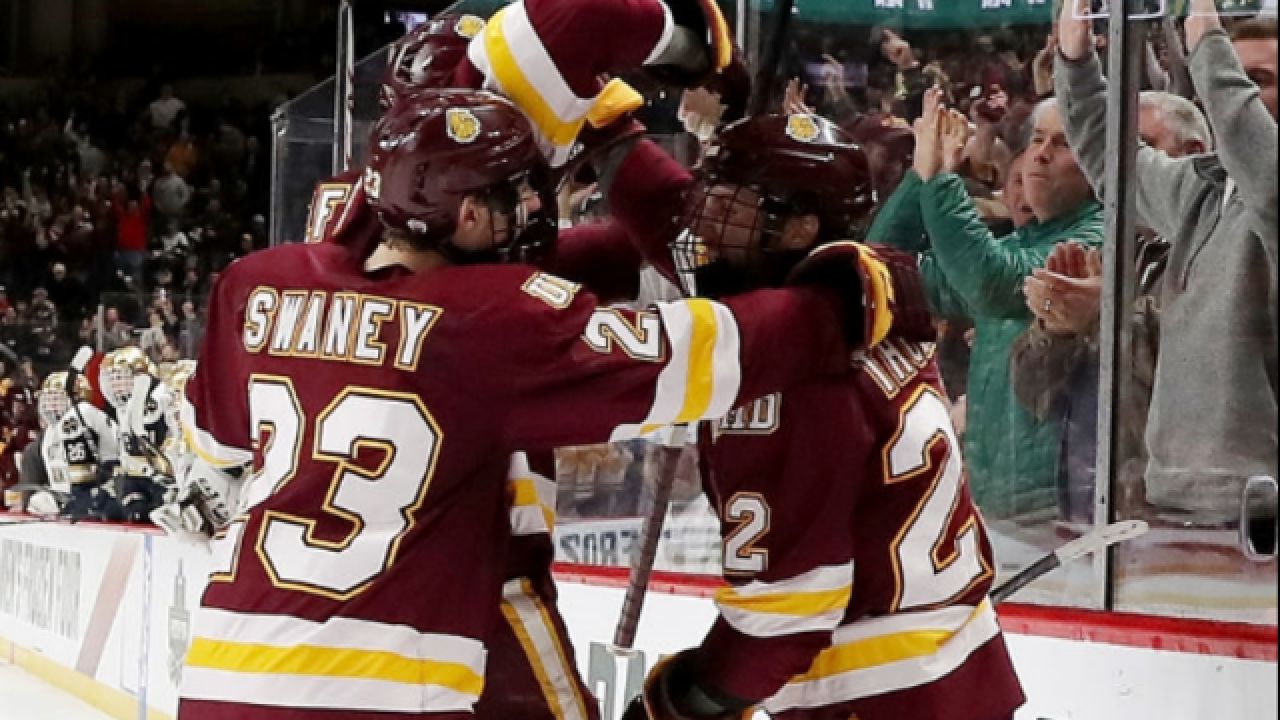 Minnesota Duluth beats Notre Dame for NCAA hockey title