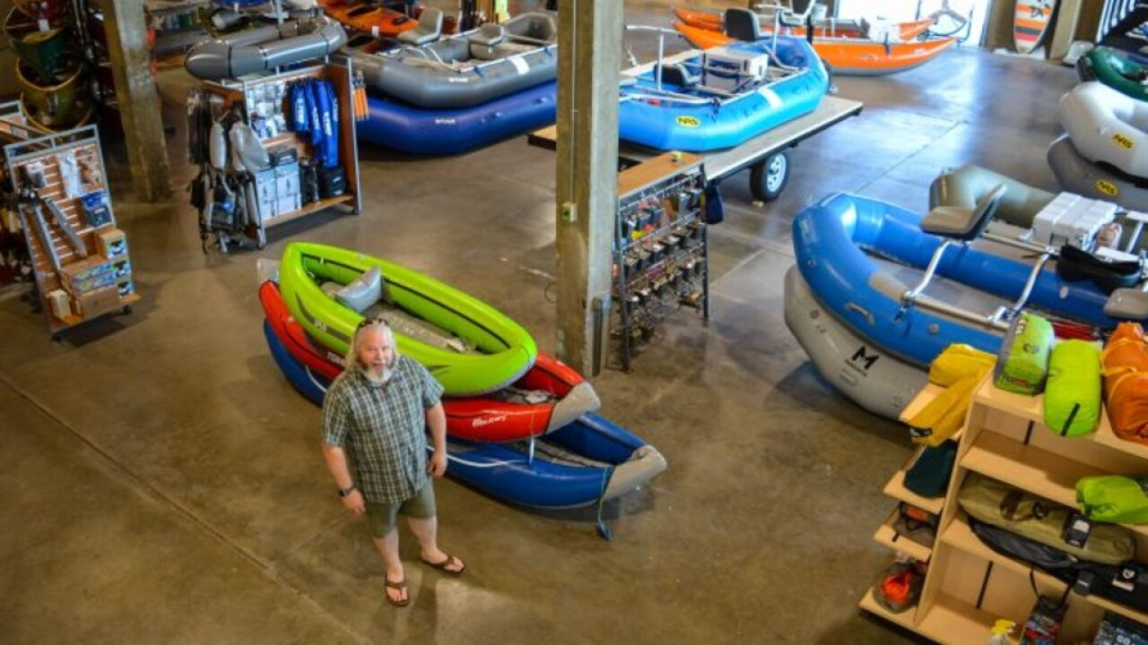 Trail Head owner Todd Frank at his recently opened Trail Head River Sports at 2505 Garfield S. near Southgate Mall. (Dave Stalling/Missoula Current)