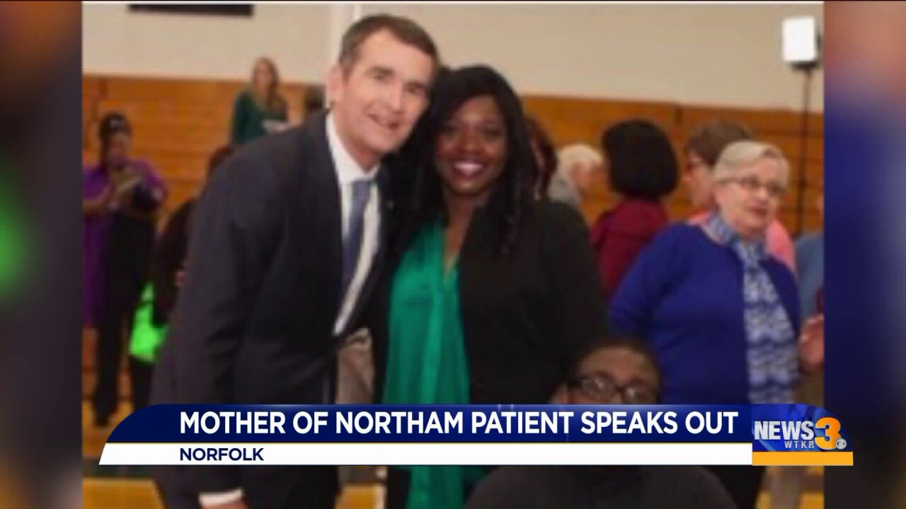Mother of former Northam patient speaks out on EVMS yearbookcontroversy