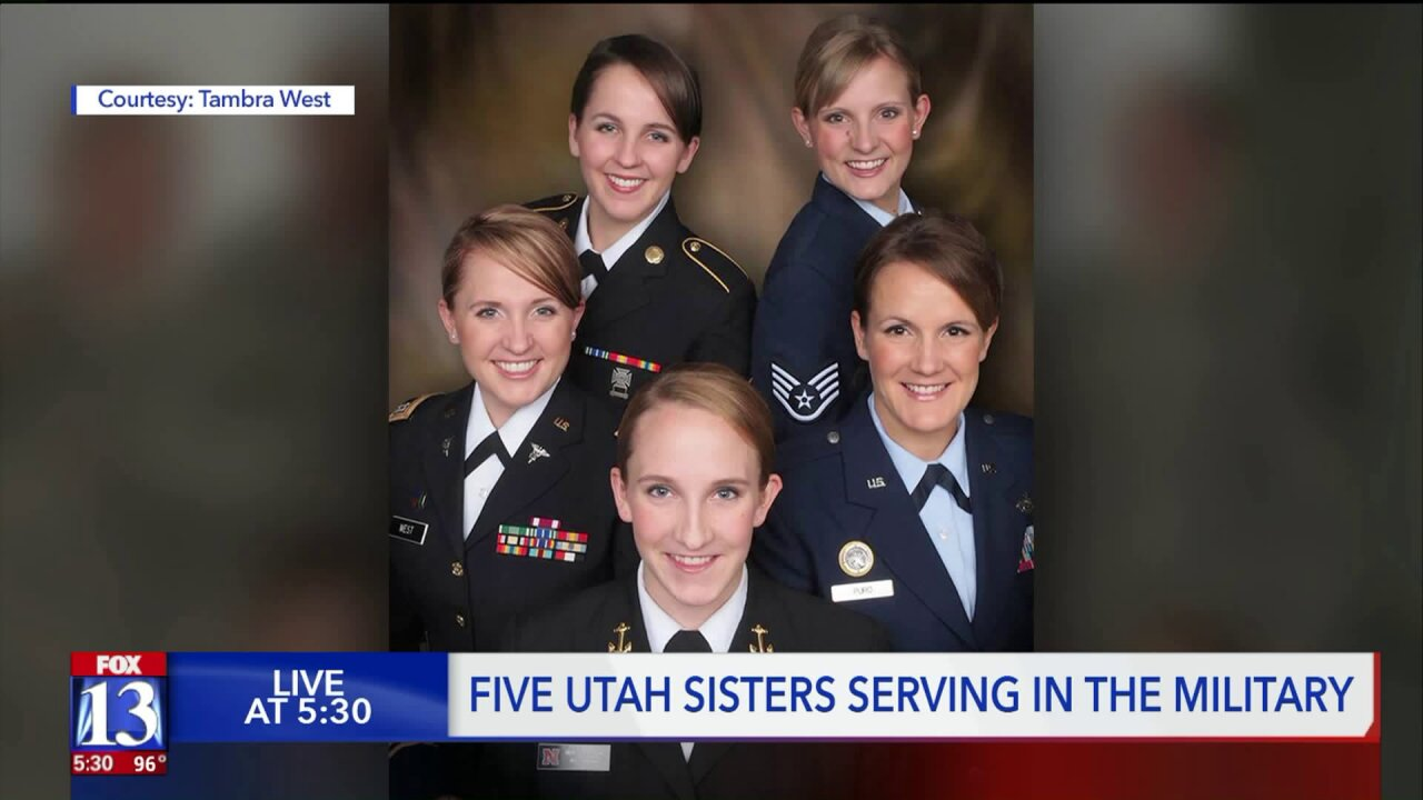 Five sisters from Utah serving in different branches of the military