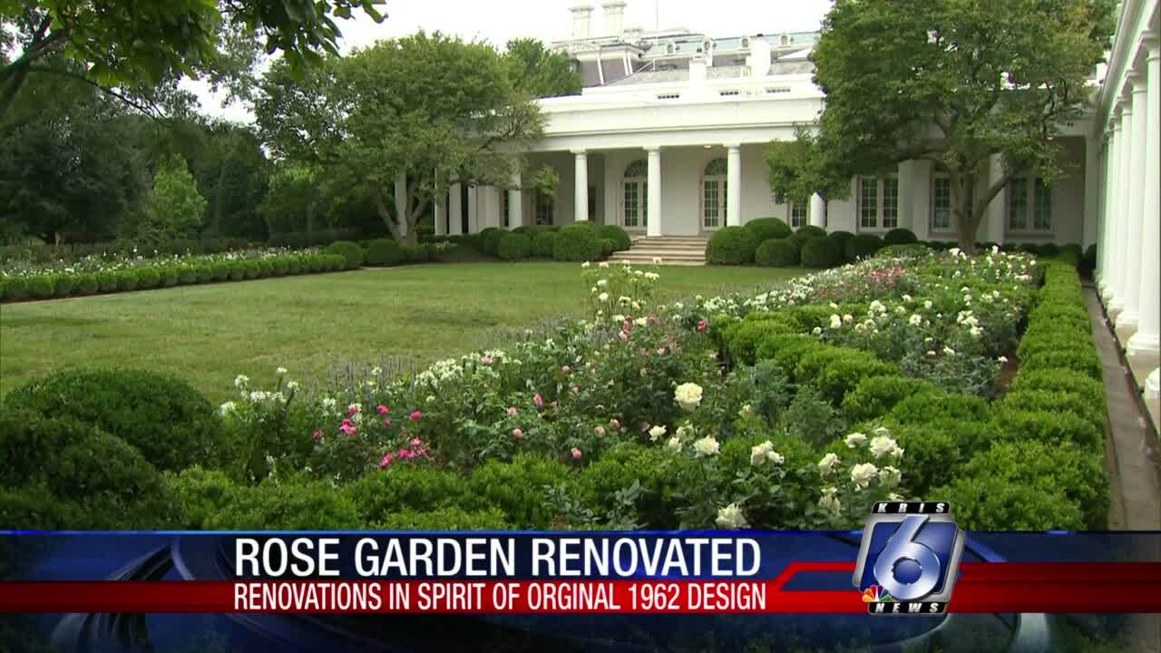 White House's Rose Garden renovation unveiled on Saturday