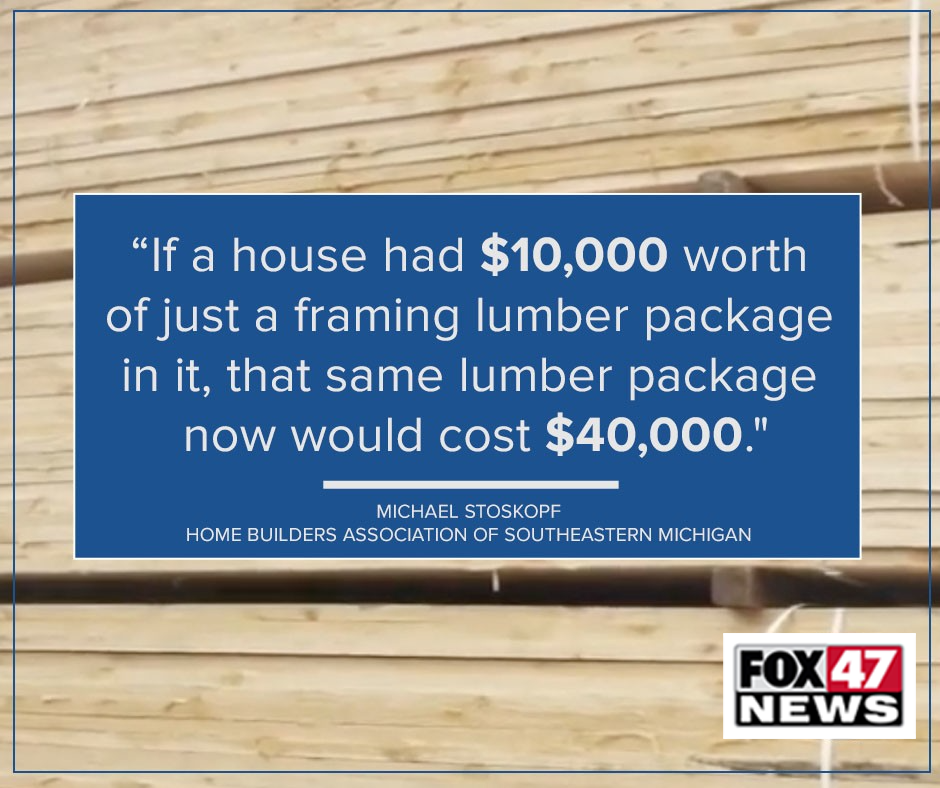 Reality of rising lumber costs in Michigan