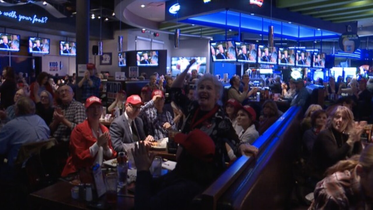 Hundreds of Trump supporters attend State of the Union watch party in Boise