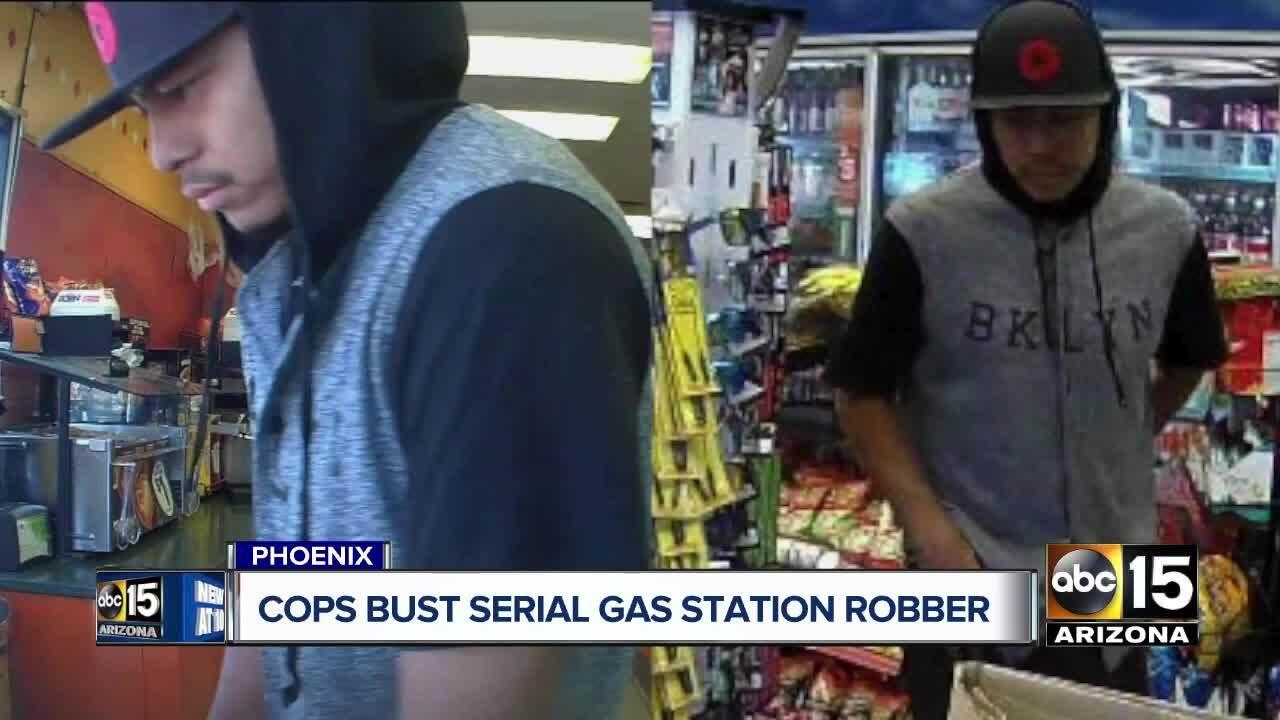 Phoenix police arrest serial gas station robber