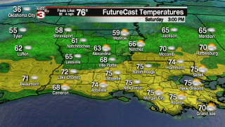 Warm & dry for Saturday parades