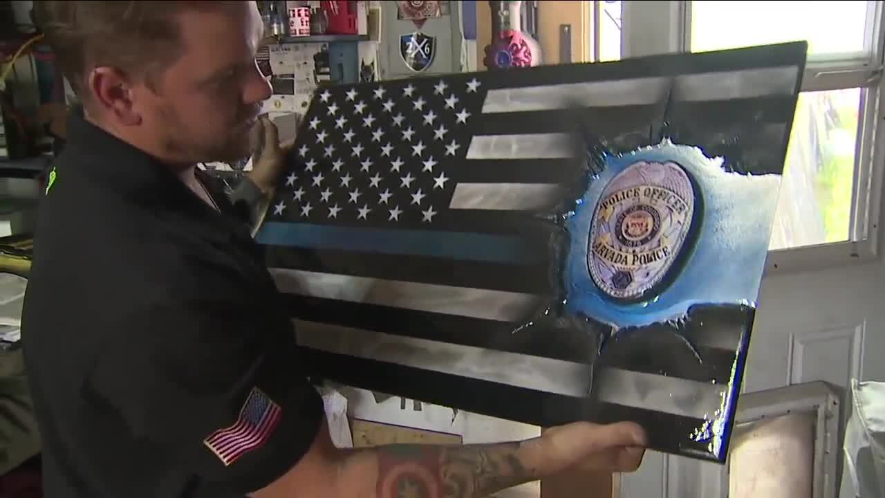Army veteran makes wooden flag tributes for the families of Colorado's fallen heroes_Zach Smith