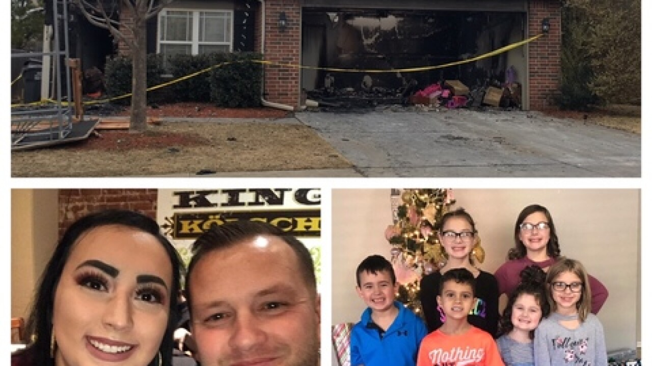 Family of eight loses their home & all their belongings in devastating fire in Jenks