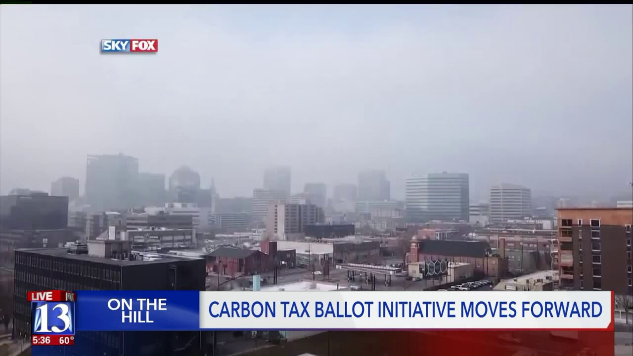 A ballot initiative that imposes a tax on pollution to clean up Utah's air advances
