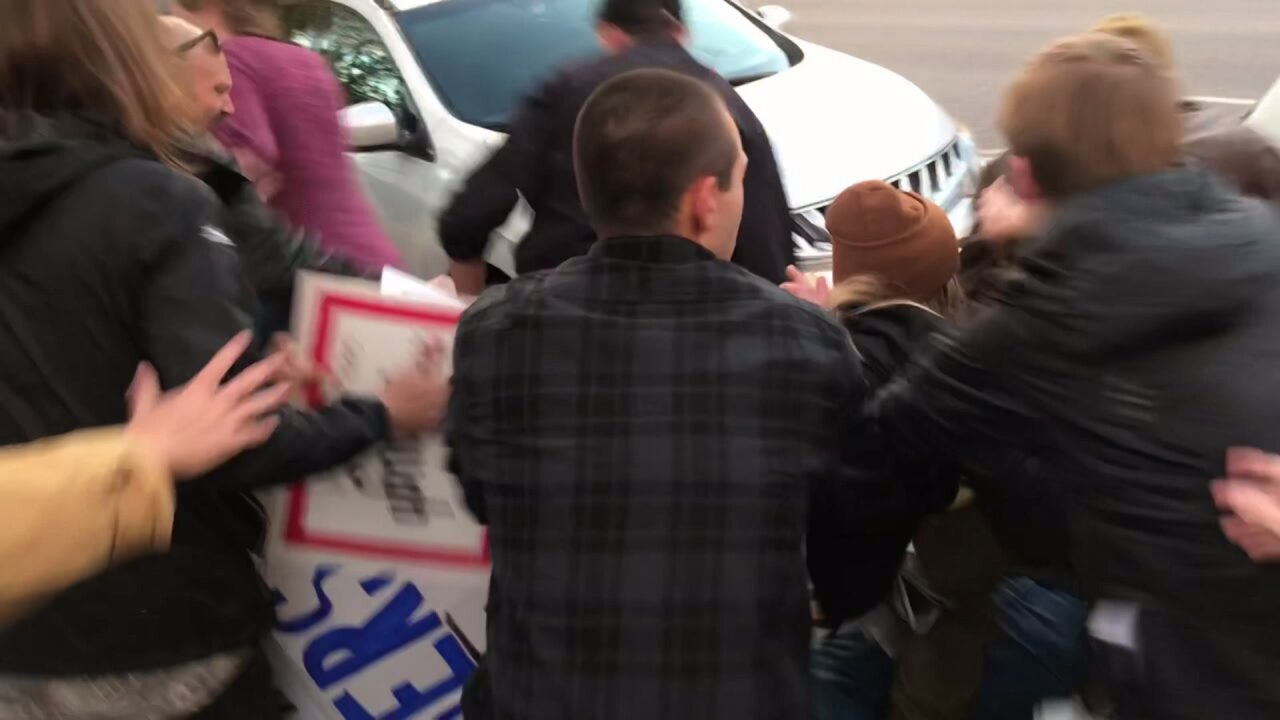 Fight breaks out at anti-Kavanaugh protest in Salt Lake City