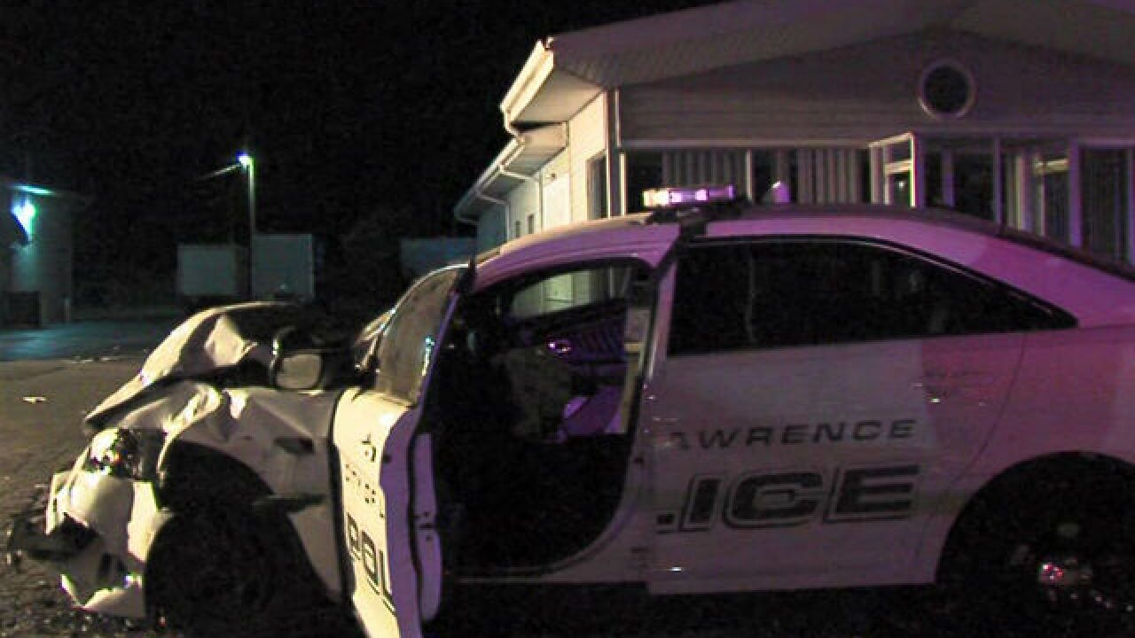 Officer hurt by suspected drunken driver