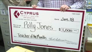 Cyprus Credit Union Teacher of the Month: Mrs. Jones at Willow Elementary