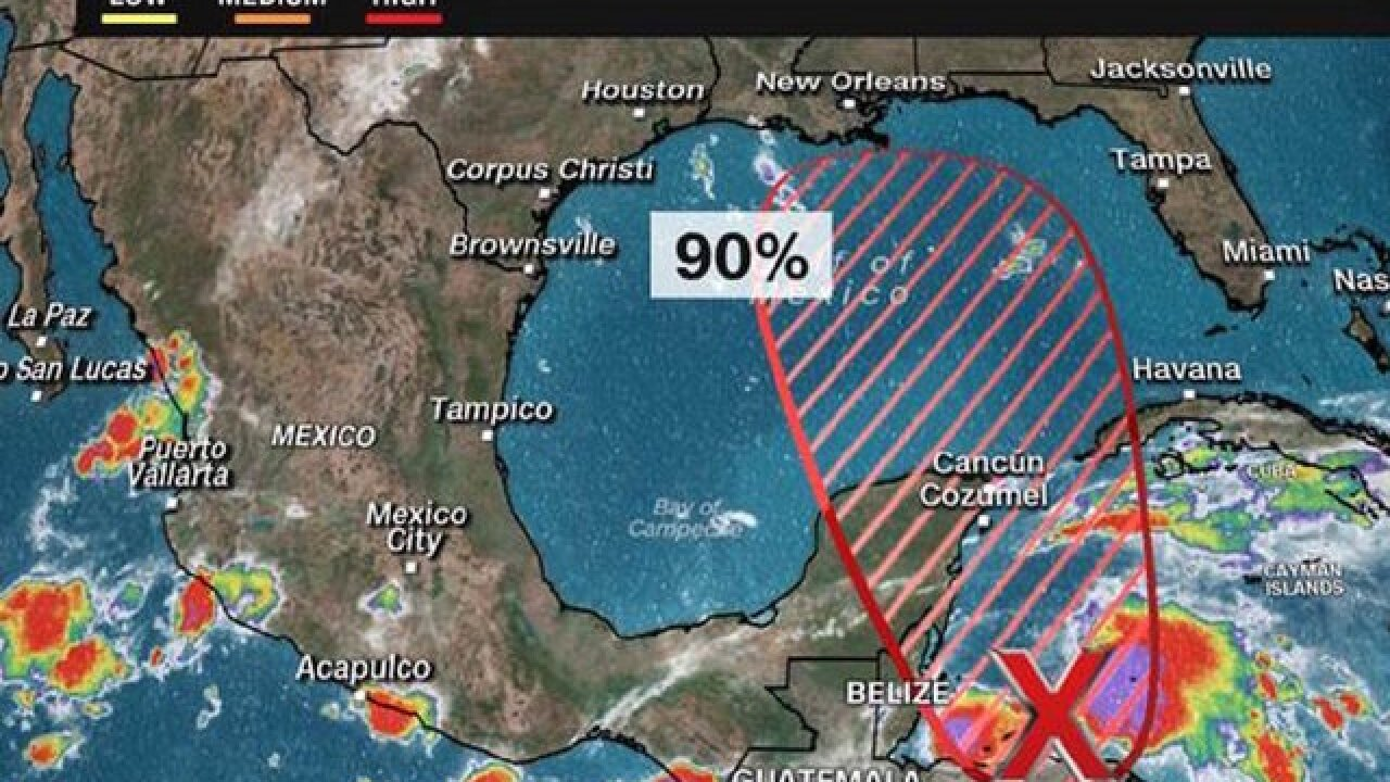 Central American storm may become tropical depression in coming days, hurricane center says