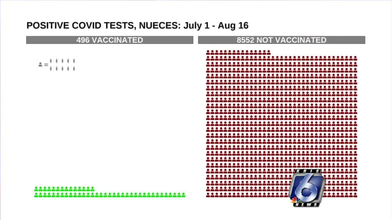 A local look at positive COVID tests, comparing those who are vaccinated and those who aren't