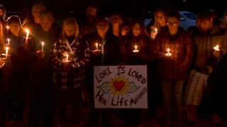 Candlelight vigil held to honor and remember Lori Bray