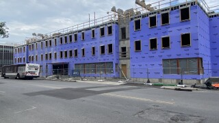 Construction at 201 Ellicott Street