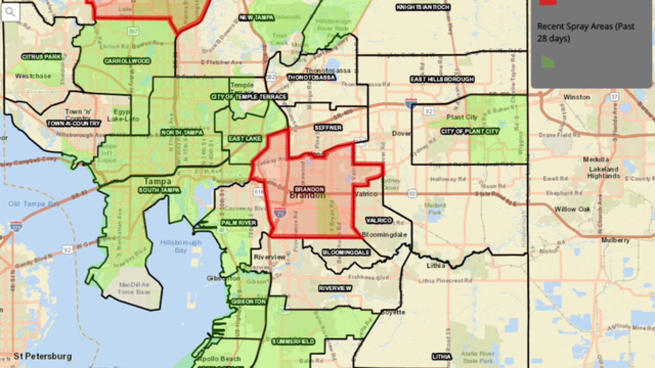 Interactive map lets Hillsborough residents check where mosquito control is spraying