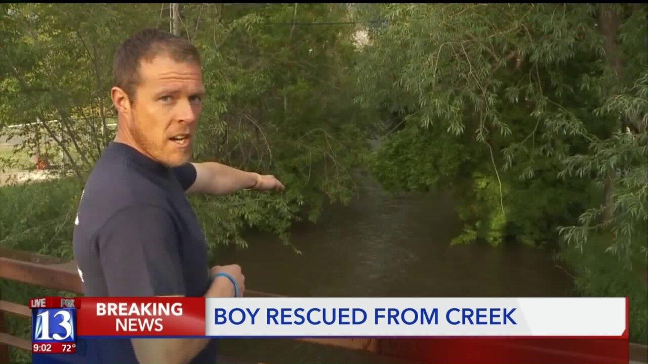 Hero saves boy from rushing water inMurray