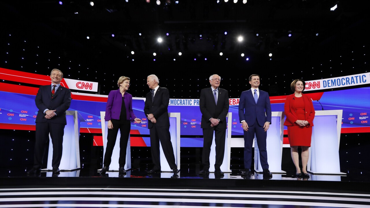 FACT CHECK: Claims from Trump rally, Democratic debate