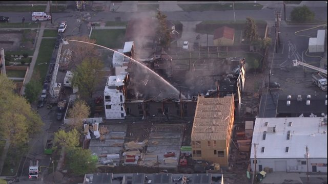 GALLERY: Three-alarm fire destroys 2 buildings under construction in Denver