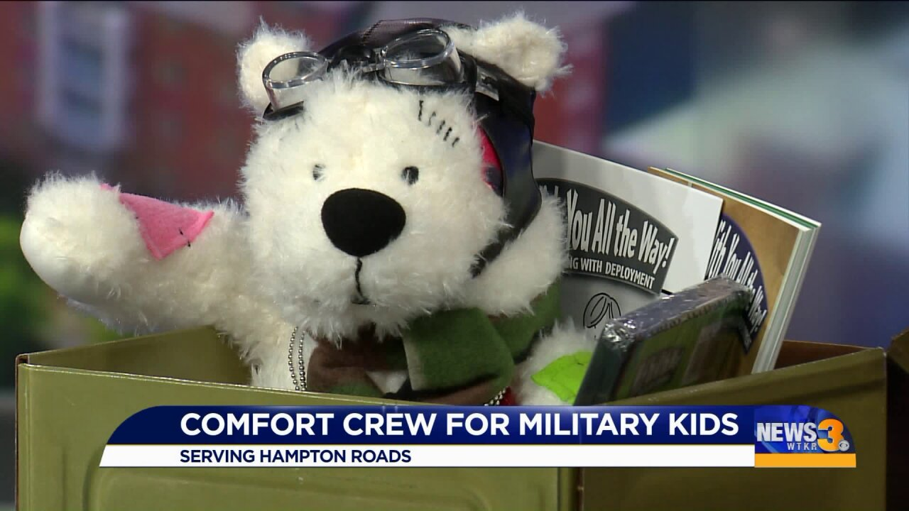 Learning about the Comfort Crew for Military Kids