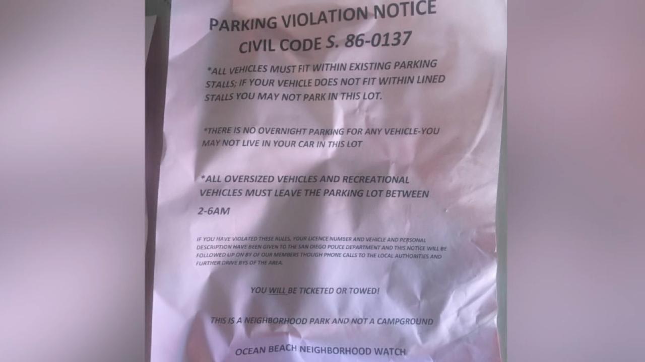 ocean beach fake parking citation